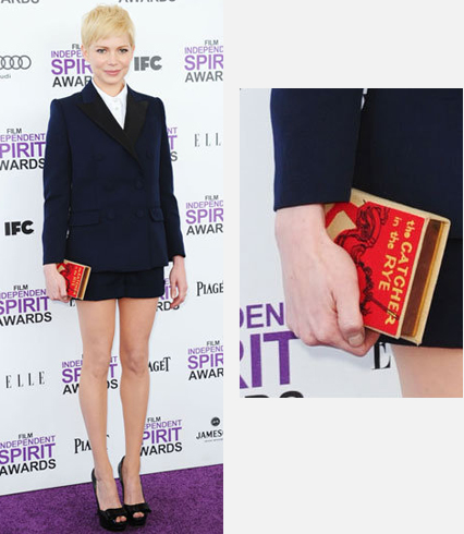 Michelle Williams in a Louis Vuitton suit