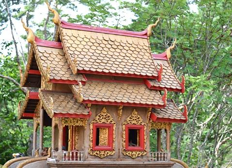 Shrine at Buddhist temple