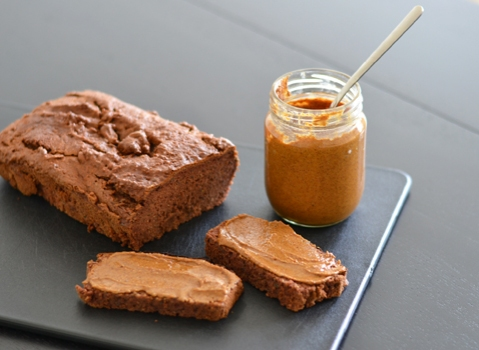 Home made almond butter and gluten free Paleo bread