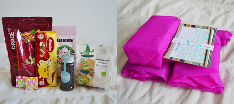 Foodie Pen Pals parcel for Jessi